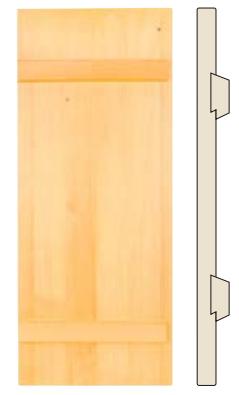 Brettladen mit eingelassenen Gratleisten